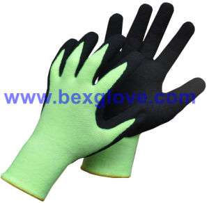 13 Gauge Thermal Acrylic/Spandex, Nitrile Coating, Sandy Finish Work Glove pictures & photos