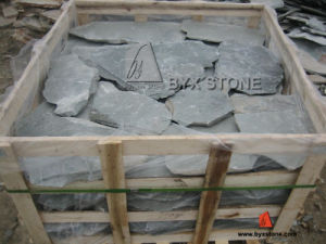"Natural Split Grey Slate ""Crazy"" Stone Irregular Shape Paving pictures & photos"