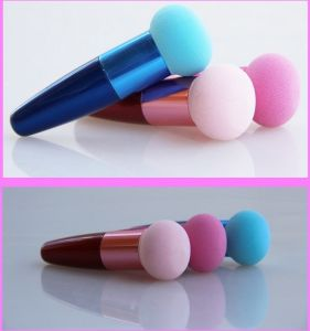 Colorful Sponge Powder Puff with Handle pictures & photos