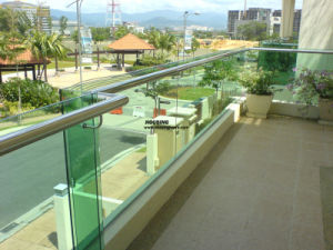 Frameless Glass Railing with Handrail