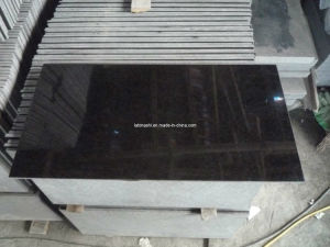 Polished G684 Black Diamond Granite for Floor pictures & photos