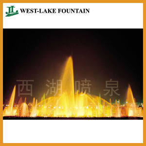 Round Pool Music Dancing Water Fountain with Colorful Lighting pictures & photos