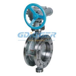 API Flanged Metal Seated Stainless Steel Butterfly Valve (DG026) pictures & photos