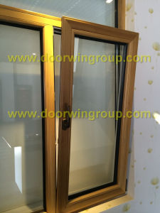 Timber Windows with Aluminum Cladding, Solid Wood Clad Aluminum Inswing Window, Anti-Moisture Imported Teak Wood Aluminum Window pictures & photos