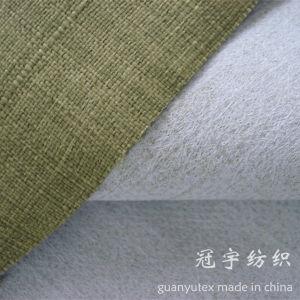 Imitation Slub Linen Fabric Polyester Yarn with Brushed Backing pictures & photos