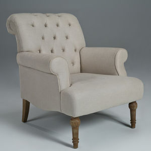 Elegant Linen Fabric Accent Chair Hotel Chair (GK8002)