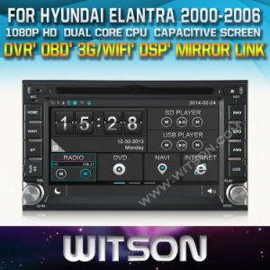 Witson Motocar DVD GPS for Hyundai Elantra (W2-D8900Y) pictures & photos