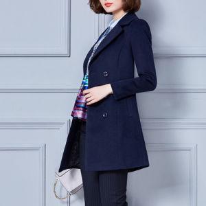 New Model Long Sleeve Wind Coat, Ladies Formal Coat Designs pictures & photos
