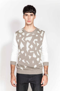 Fashion Round Neck Patterned Knit Men Sweater pictures & photos
