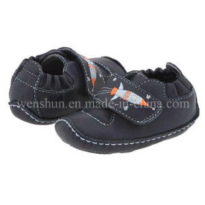 Plane Design Leather Infant Shoes 1001