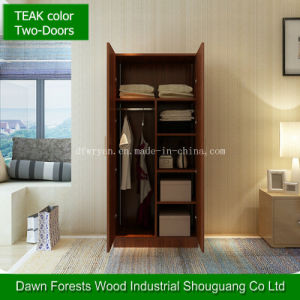 Teak Color Simply Panel Wardrobe pictures & photos