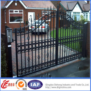Black Powder Coated Simple Entrance Gates pictures & photos