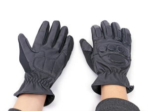 Paintball Leather Full Finger Tactical Glove pictures & photos