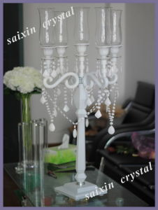 Beautiful Hurricanes Crystal Candleholder for Wedding Table Decoration