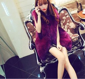 2015 New Fox Fur Vest Fur Coat and Long Sections of Good Quality Women′s Fashion Style Free Shipping pictures & photos