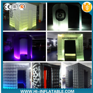 Portable Colorful Lighting Inflatable Photo Booth with LED for Wedding Event Party