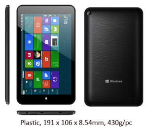 Intel Baytrail Z3735 1GB RAM 16GB ROM 7inch IPS Intel Windows Tablet PC pictures & photos
