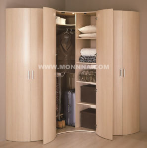 Melamine Wooden Wardrobe with ISO and E1 Standard