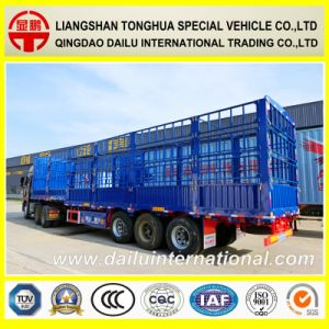 3-Axle Flat Beam Stake Semi Trailer with Three-Tier Fence pictures & photos