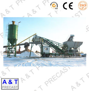 Trail Type Mobile Concrete Batching Plant with High Quality pictures & photos