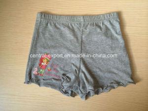 Solid with Placement Print Cotton Children Underwear Girl Boxer Brief pictures & photos