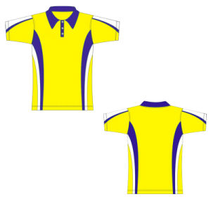 Yellow Color Printed T Shirt Polo Shirt for Sale pictures & photos