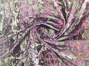 Silk Lurex Vevet Discharge Print Bout out