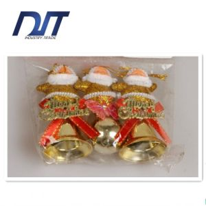 Christmas Red Santa Claus Station Plastic Bells Decorated Small Packs pictures & photos