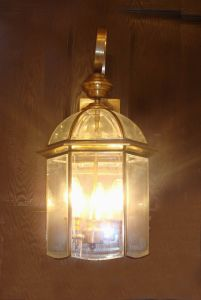 Pw-19035 Copper Wall Light with Glass Decorative pictures & photos