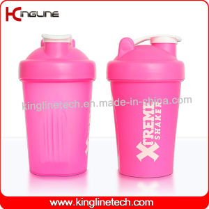 400ml blender shaker water bottle custom protein shaker bottle sports bottle shaker cup gym shaker fitness bottle bap free water bottle with mixer (KL-7011) pictures & photos