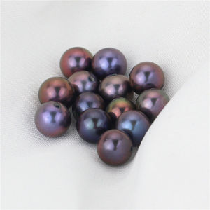 Snh Peacock Color Natural Freshwater Loose Pearl Beads pictures & photos