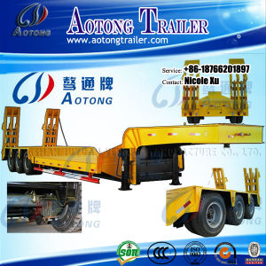 3 Axles 50-80 Tons Flat Lowbed Semi Truck Trailer (LAT9405TDP) pictures & photos