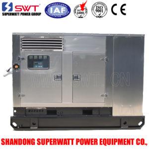 Stainless Steel Super Silent Diesel Generator Sets Perkins Generator 60Hz (1800RPM) -3phase 220V/127V (1phase 230V) Sg25X-1p