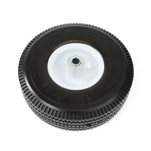 Flat Free Solid Rubber PU Foam Wheels pictures & photos