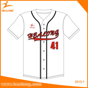 Cheap Custom Team Embroidery Logo Wholesale Baseball Jersey Shirts Clothing Uniforms pictures & photos