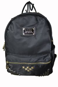 Ladies Nylon/Cow Leather Backpack Bag (BS13303) pictures & photos