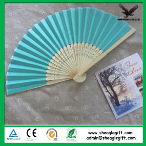 Custom Printed Spanish Paper Collapsible Fan pictures & photos