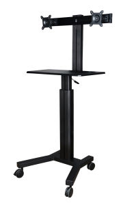 """Mobile Computer Workstation Gas Lift/Trolley Single Monitor 10-24"""" Adjustable (GAS 1602A) pictures & photos"""