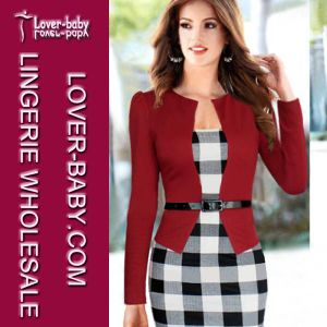 Tartan Color Block Women Celebrity Party Cocktail Dress (L36017-2) pictures & photos