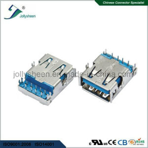 USB a/Female 90deg at Bottom of PCB Type DIP Harpoon Pegs Reverse with Curling Connector pictures & photos