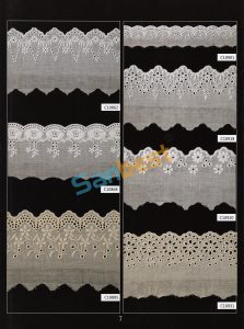 Different Colors Beautiful Cotton Embroidery Lace for Shoes pictures & photos