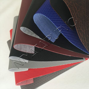 Abrasion-Resistant PVC Faux Leather for Auto Upholstery Lining Roofs pictures & photos