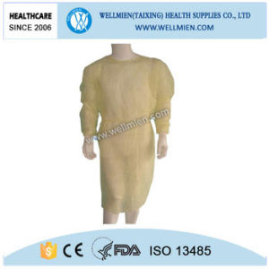Disposable Yellow Isolation Gowns for Medical Supplies pictures & photos