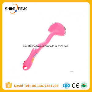 Plastic Pink Handle Stainless Steel Scrubber pictures & photos