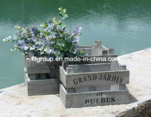 Hot Selling Old Looking Wooden Flowers Holders pictures & photos