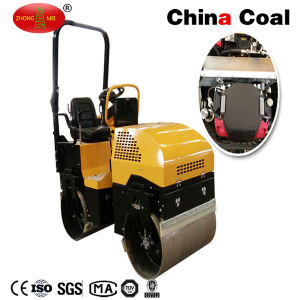 1ton Gasoline Ride on Double Drum Vibratory Road Roller Compactor pictures & photos