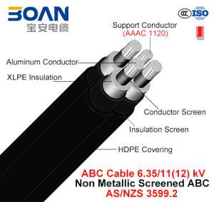 Hv ABC Cable, Aerial Bundled Cable, Al/XLPE/HDPE+AAAC, 3/C+1/C, 6.35/11 Kv (AS/NZS 3599.2) pictures & photos