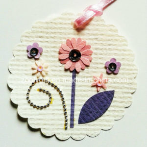 Printing Hanging Decorative Tag / Handmade Printed Flower DIY Paper Craft pictures & photos