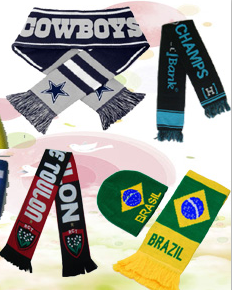 Knitted Jacquard Term Football Soccer Fans Scarf pictures & photos