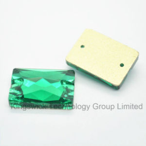 Wholesale Rectangle Stones with 2 Holes for Wedding Dress Accessory pictures & photos